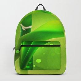 Bambus mit Wassertropfen Backpack