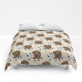 Blue wrens Wombat Football Comforters