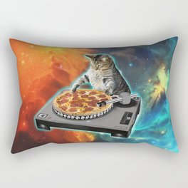 Cat dj with disc jockey's sound table Rectangular Pillow
