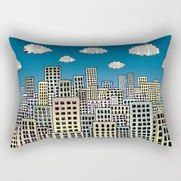 The city of paper clouds Rectangular Pillow