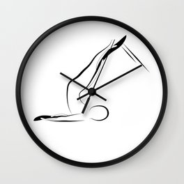 Pilates pose1 Wall Clock