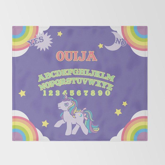 my little pony ouija board throw blanket by gutsandglitter society6