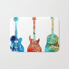 Abstract Guitars by Sharon Cummings Bath Mat