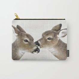 Kiss me my deer, by Claude Thivierge Carry-All Pouch