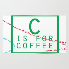 """""""C is for Coffee"""" Rug"""