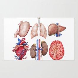 Watercolor organs Rug