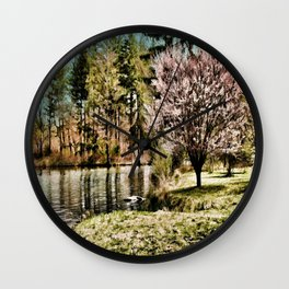 Spring Time In New England Wall Clock