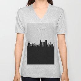 City Skylines: Chicago Unisex V-Neck