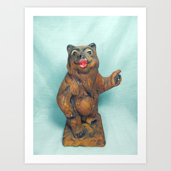 Super Sexy Hitchhiking Bear Statue Art Print Download Free Architecture Designs Scobabritishbridgeorg