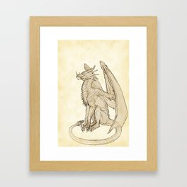 Lyrasz; Portrait of a Young Wyrm Framed Art Print
