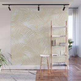 Modern tropical elegant ivory palm tree pattern Wall Mural