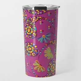 Paisley background Travel Mug