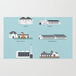 Whisky Distilleries of Islay Rug