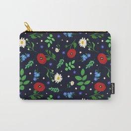 Swedish Folk Flowers Carry-All Pouch