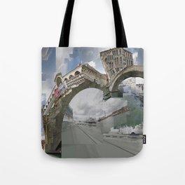 Venice Twice bridge Rialto, Italy Tote Bag