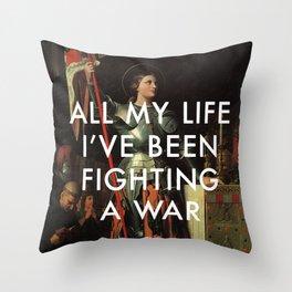 Joan's Bravado Throw Pillow