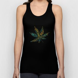 Marijuana Cannabis Weed Pot Names Unisex Tank Top