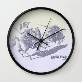 Modern Samurais Wall Clock