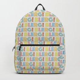 BLERG! in color Backpack
