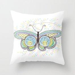 Ornamental Butterfly Throw Pillow