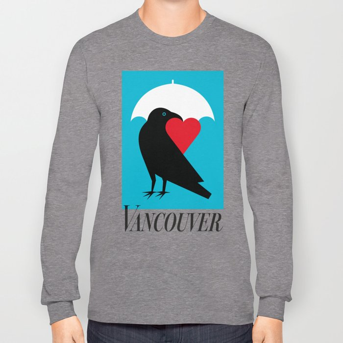 Vancouver's Canuck the Crow Long Sleeve T-shirt