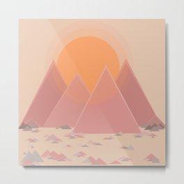 The quiet mountains Metal Print