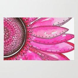 Gerber Daisy Watercolor Print Rug