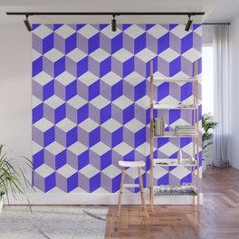 Diamond Repeating Pattern In Nebulas Blue and Grey Wall Mural