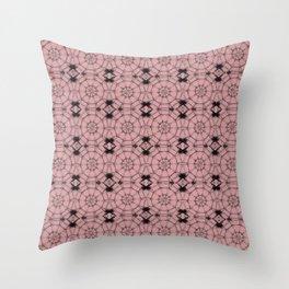 Bridal Rose Pinwheels Throw Pillow