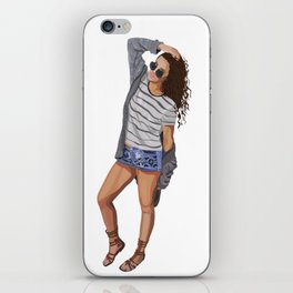 Cool Chick Off Duty iPhone Skin