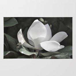 Desaturated Magnolia Flower Rug
