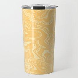 Yellow Liquid Marble Travel Mug
