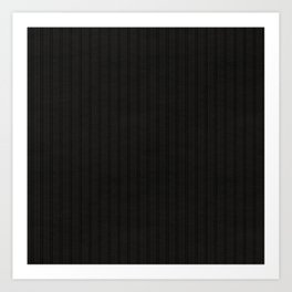 Antiallergenic Hand Knitted Black Wool Pattern - Mix & Match with Simplicty of life Art Print