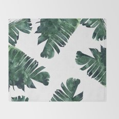 Banana Leaf Watercolor #society6 #buy #decor Throw Blanket