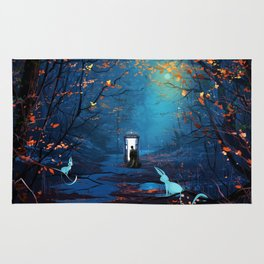 Tardis And The Doctor Lost In The Forest Rug