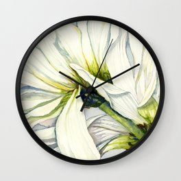 White Daisies Wall Clock