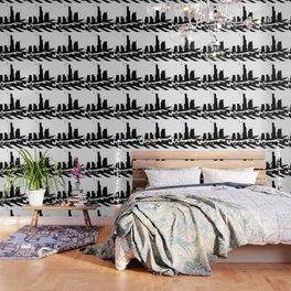 City Scape in Black and White Wallpaper