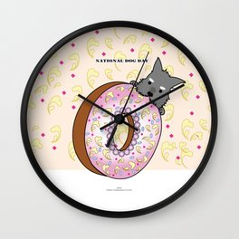 national dog day Wall Clock