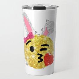 Easter Bunny Emoji Shirt Travel Mug