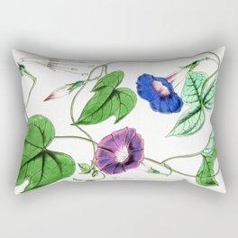 A Purging Pharbitis Vine in full blue and purple bloom - Vintage illsutration Rectangular Pillow