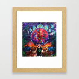 Aztec Goddess Mural with CROZ Framed Art Print