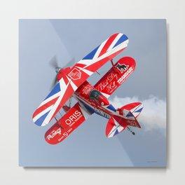 Stunt plane Metal Print