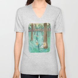 Twinkling Night Unisex V-Neck