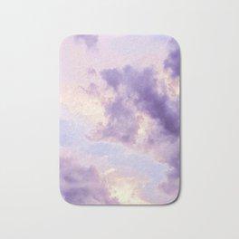 Purple Pink Clouds Bath Mat