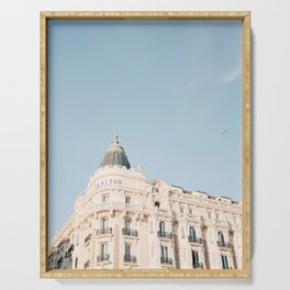 Carlton hotel Cannes South of France Riviera | Architecture photography print | Pastel colored Serving Tray