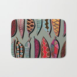 Leaves lined up Bath Mat