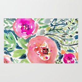 Peach Floral Rug