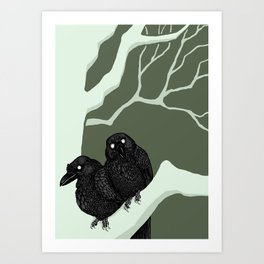 Huginn & Muninn Art Print
