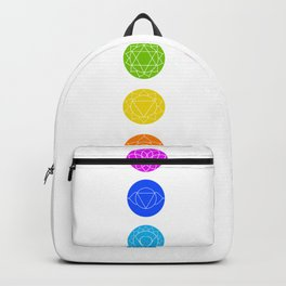 Chakra symbols with respective colors- Spiritual gifts Backpack