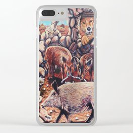 The Three Little Pigs Clear iPhone Case